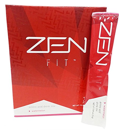 Jeunesse - ZEN FIT - Zen Body - Complete amino acid supplement with extra leucine - Pack of 30 sachets (Box) - Gusto Watermelon - 1 sachet 20g protein