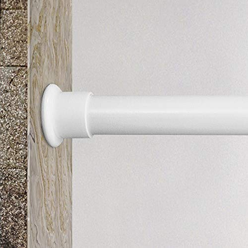 JimmLoo Room Divider Tension Curtain Rod - 83-122 Inches Adjustable Curtain Tension Rods White