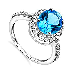 Elegantly crafted in high quality 9ct white gold for a lustrous silver grey tone and rich shine Miore jewellery comes with a Certificate of Authenticity Comes presented in a beautiful blue gift box