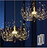 Battery Chandelier 2 Pack, Firework Lights Starburst Light 180 LEDs | Battery Operated Fairy Light | Hanging Decorative Lights for Party Garden Patio Umbrella, DIY Indoor/Outdoor Using.