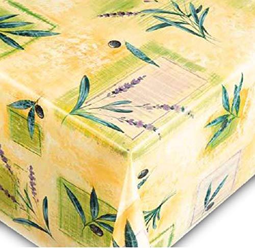 Friedola Wachstuchtischdecke Trend - Vlies Rückseite - Muster Lavender Made IN Germany (Rund 140cm)