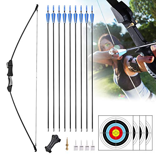 """Rtemis 45"""" Recurve Bow and Arrows Set Longbow Kit wih Bow Sight–Archery Kit for Adult Beginners Youth Teen Boy Gifts Outdoor Sports Game Hunting Toy"""