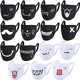 15 Pièces Masque de Bouche Masque de Coton de Bande Dessinée Unisexe Masque Anti-Poussière Kawaii...
