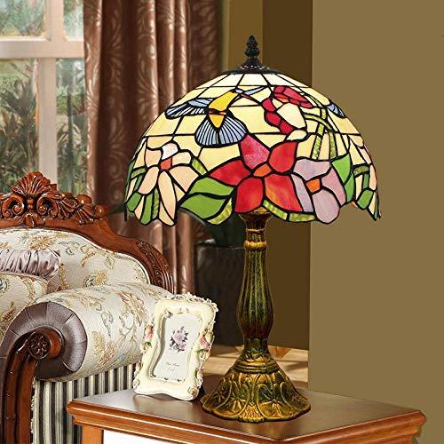 Slaapkamer nachtkastje lamp Tiffany kleur woonkamer eetkamer slaapkamer nachtkastje lamp bar vogel glazen lamp