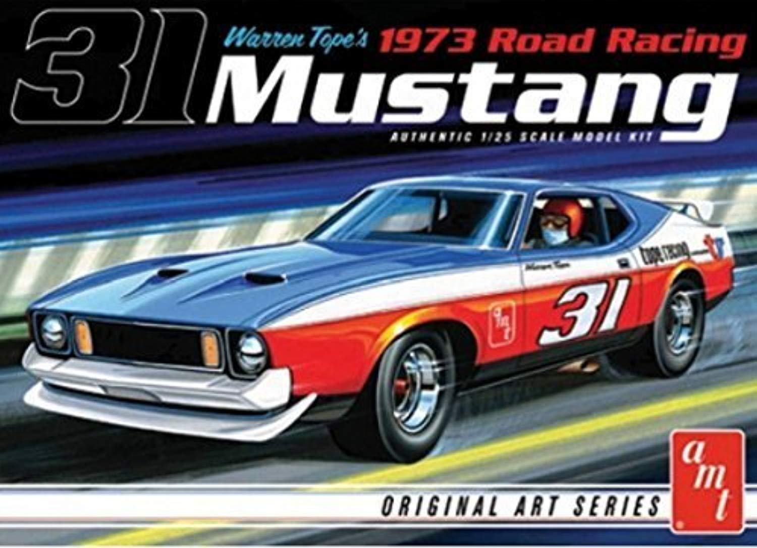 AMT 1 25 Scale 1973 Mustang Warren Tope modello auto by AMT