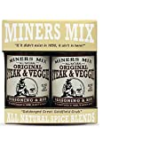 Miners Mix – Steak & Veggie Rub – Original Tasty Flavor, All Natural Spice Blend, No MSG, Gourmet Seasoning and Low Sodium – Pack of 2