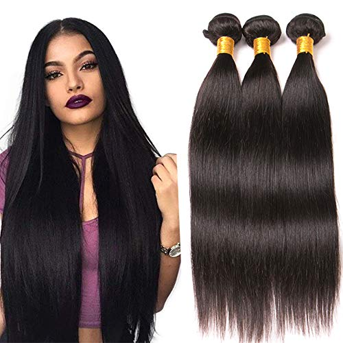 Dai Weier Silk 9a Brazilian Virgin Hair 3 Bundle Straight Hair Mixed Length Real Virgin Human Hair Weave Extensions 20 22 24 Inches