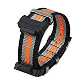 Shieranlee 16mm Nato Cinturino Compatibile con Casio G-Shock GA-110 GA-100 GD-100 Men Sports Waterproof Replacement Bracelet Band Strap