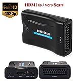 EMEBAY - 1080P HDMI vers Scart Péritel Convertisseur Vidéo Audio Adaptateur de...