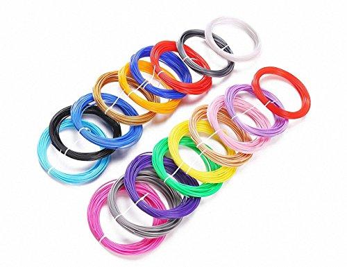 20x Filament per 3d Penne, ciascuna da 5metri, 1,75mm, PLA Print Filament filo in plastica Materiale di stampa per stampanti 3d penna, 20colori.