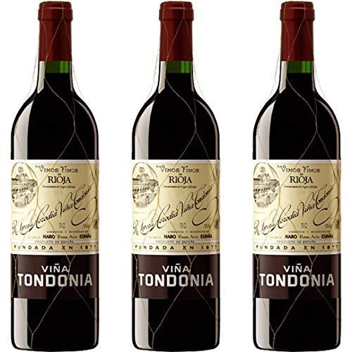 Viña Tondonia Reserva Vino Tinto Reserva - 3 botellas x 750ml - total: 2250 ml