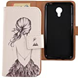 Lankashi Housse Case Cuir Cover Flip Etui Coque Protection Skin pour Acer Liquid Z6 Plus 5.5' (Back...
