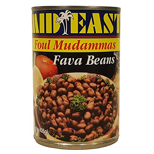 Mid East Fava Beans 15 oz (425g), (Pack of 3)