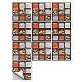 vinilos pared,10 piezas de pegatinas de azulejos de simulación de mosaico, 15 cm, sala de estar, cocina, baño, decoración, pegatinas de pared autoadhesivas-18