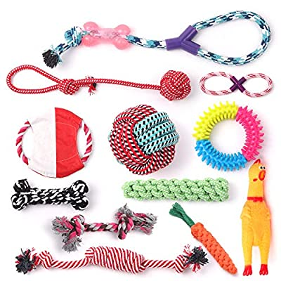 Supreme Products Pettoys World -Puppy Dog Chew Toys?12pcs Dog or Puppy Rope Toys, Cotton Rope for Small and Medium Dogs,100% Authentic Materials