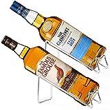 SuproBarware Wine Rack Set of 2 - Stainless Steel Single Wine Bottle Holder Rack, Stylish Wine Bottle Organizer Great for Wine Lovers (1)