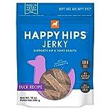Happy Hips Duck Jerky, Grain Free Dog Treats with Glucosamine & Chondroitin,...