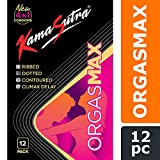 KAMA SUTRA Luxury Series Condoms for Men, Orgasmax (4in1) Condoms, Ribbed, Dotted, Contoured, and Climax Delay, 12 Pieces