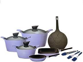 Neoflam Ceramic Eela Cookware Set - 12 Piece - Purple
