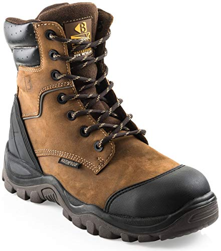 Buckler BSH008WPNM High Leg Waterproof Safety Work Boots Brown (Sizes 6-13) Men's Steel Toe Cap (10)