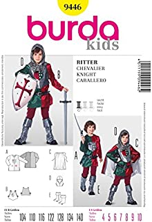 Burda Childrens Easy Sewing Pattern 9446 Medieval Knight?s Robe with Cape
