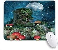 マウスパッド Mouse Pad Fantasy Houses from Cupcakes Candy Sweets Mousepad Non-Slip Rubber Base for Computers Laptop