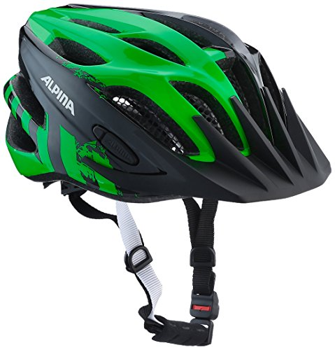 Alpina Firebird Jr. 2.0 Junior Casco da Ciclismo, Bambino, Multicolore (Nero/Verde), 50-55 cm