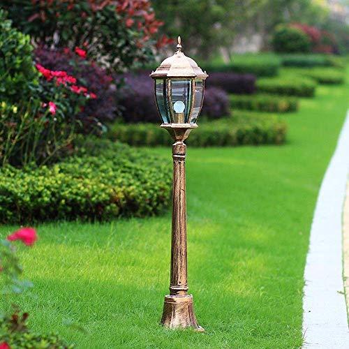 Wandlantaarn, wandlamp, kristal, wandlamp van kristalglas, spiegel, 1,15 m, van aluminium, pastoraal voor patio van glas met vloerlamp E27 buitenverlichting Brons
