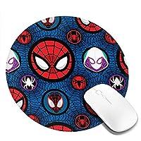 Fawgawv スパイダーマン マウスパッド 丸型 おしゃれ かわいい 防水 耐久性が良い 滑り止めゴム底 20cm