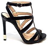 GUESS (Cacia) Sandalo Donna Pelle Intreccio Nero FL2CICLEA03 (39)