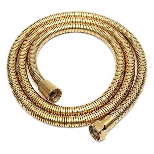 Deirdre Agnes 1.5m gouden douchekop slang lange spiraal flexibel roestvrij staal badkamer waterleiding douchekop pijp pijp sanitair slang