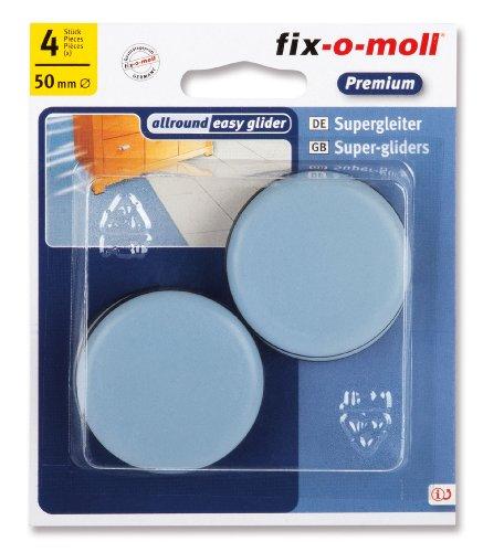 fix-o-moll Universal PTFE Gleiter 50 mm 4 Stück selbstklebend grau, 3566483