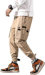 (ソインガ) Soinnga カーゴパンツ メンズ サルエル ジョガーパンツ ワークパンツ ゆったり カジュアル テーパード アンクルパンツ 無地 綿