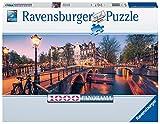 Ravensburger Puzzle, Puzzles 1000 Piezas, Evening in Amsterdam, Puzzles para Adultos, Puzzle Panorama, Puzzle Ravensburger