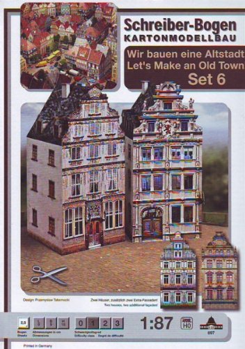 Aue Verlag Schreiber-Bogen Card Modelling Old Town-Set 6