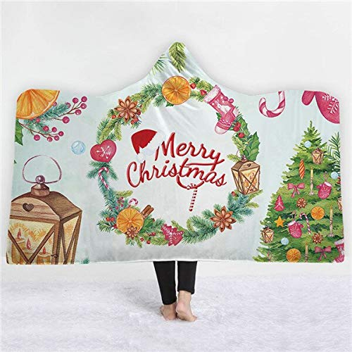 RONGXIE Neue 3D Weihnachtsbaum Decke Schneemann Mikrofaser Sherpa Decke Auf Bett Weihnachtsmann Dünne Steppdecke Bettdecken Teppiche Home Camping Bettwäsche
