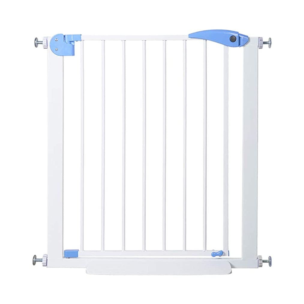 Baby Gates Baby Safety Gates for Stairs Banisters, Pressure Mount Pet Dog Gates for Hallway & Doorway, 76 cm Height, White (Size : 75-81cm)