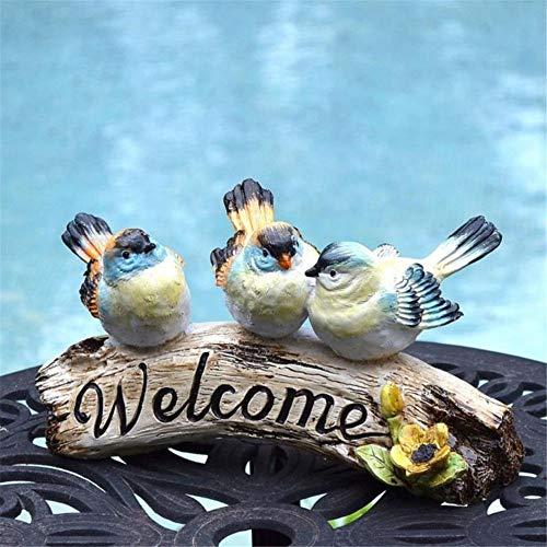 Bienvenue Connexion Trois Cartes Sculpture Porte Antique Avant Décoration Welcome Card Décor pour Garden Home (Color : One Color, Size : One Size)