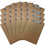 Trade Quest Letter Size Clipboard Low Profile Clip Hardboard (Pack of 24)...