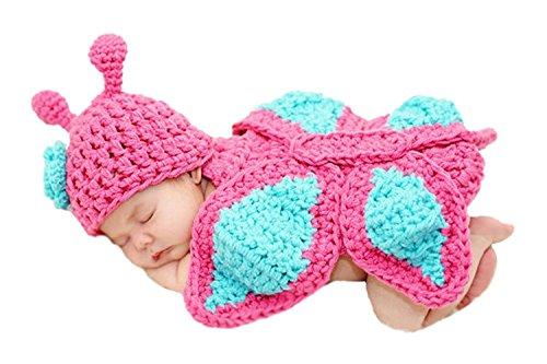 AKAAYUKO Bebé Recién Nacido Hecho A Mano Crochet Foto Fotografía Prop (Mariposa)