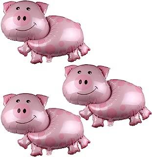 Soochat Pink Pig Shaped Jumbo Mylar Foil Balloon Party Birthday Baby Shower Decorations 3 Pcs