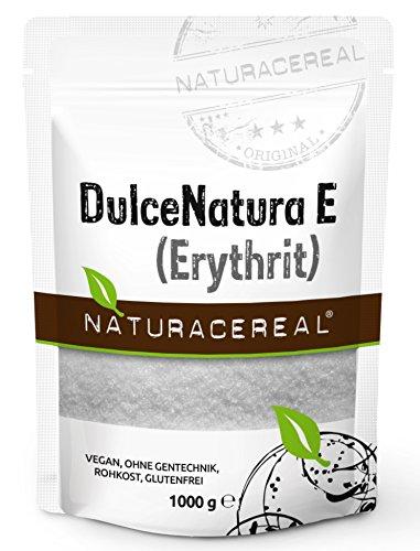 NATURACEREAL DulceNatura E (Eritritol), 1.000 g - | Excelente alternativa natural al azúcar | Edulcorante LIBRE de CALORÍAS | Apto para diabéticos | Alto poder edulcorante |