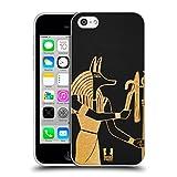 Head Case Designs Anubis Iconos de Egipto Antiguo Carcasa de Gel de Silicona Compatible con Apple iPhone 5c