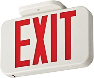 Lithonia Lighting EXR LED M6 Contractor Select Red Thermoplastic LED Exit Sign