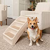 PetSafe Solvit PupSTEP Plus Pet Stairs, Foldable Steps for Dogs and Cats, Best for Small t...