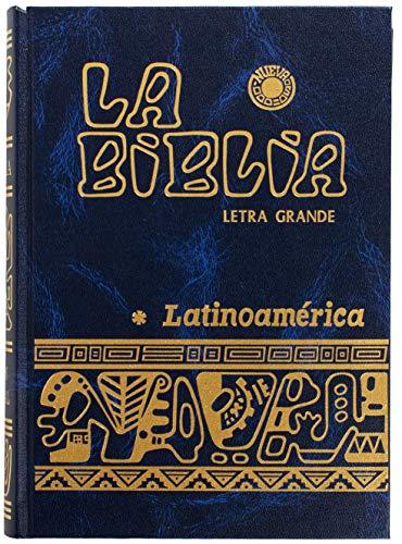 Morning Drawer Biblia Catolica Latinoamericana Letra Grande (Spanish Edition)(Letra Grande) (Navy)