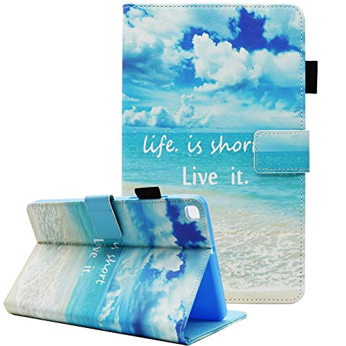 Samsung Galaxy Tab A 8.0 2019 Case, Fit Model SM-T290/T295, Fvimi Multi-Angle Viewing Full Body Shockproof PU Leather Folio Stand Cover for 8.0 Inch Galaxy Tab A SM-T290 SM-T295, Life