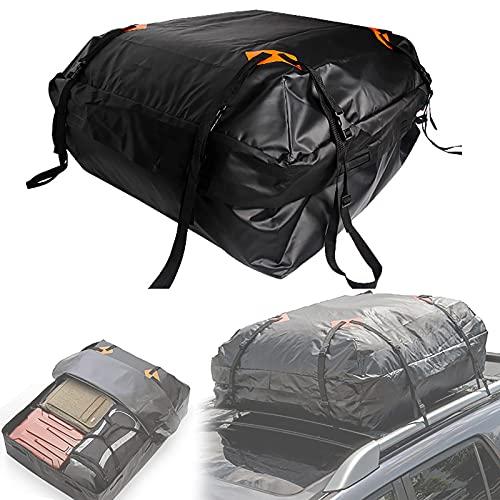 Bolsa de transporte de carga en la azotea, 100% impermeable con cremallera, solapa para lluvia, equipaje, portaequipajes superior para automóvil, portaequipajes de carcasa blanda,130x100x45CM