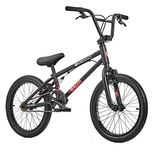 KHE - Bicicletta BMX Blaze da 18 pollici, rotore brevettato Affix a 360°, solo 10,2 kg, colore: Nero