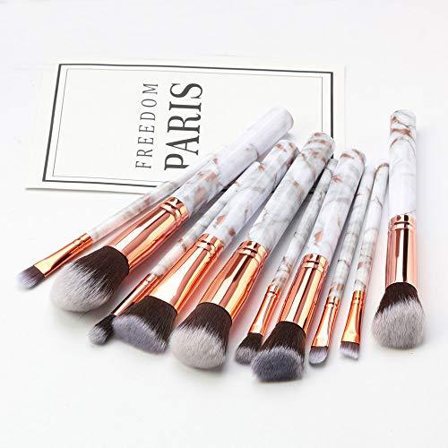 LILONGXI Pinceau De Maquillage,10 Pc Soft Grey en Professionnel Outils Set Fard À Paupières Eyeliner Lèvres Poudre Foundation